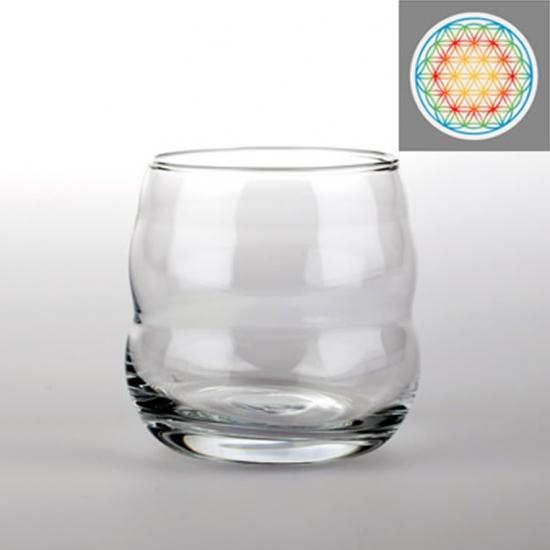 ENERGY GLASS NATURES DESIGN MYTHOS WHITE FLOWER OF LIFE