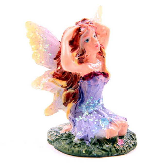 Cute Mini Flower Fairy Figurine in a Gift Bag
