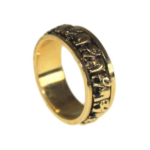 elephant  unusual & unique revolving ring, Tibetan prayer/worry ring