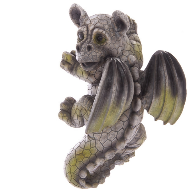 Decorative Garden Wall Baby Dragon Ornament