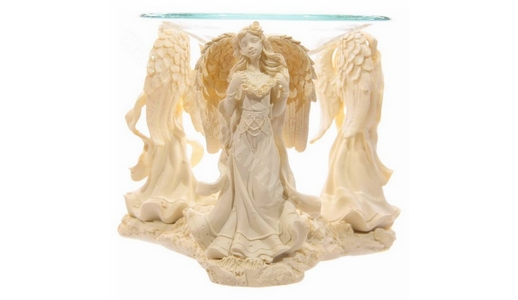 Angel Figurine Oil Burner  power of 3!