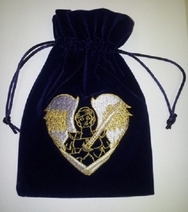 Archangel Michael Tarot/Crystal Bag Velvet Angelic REIKI