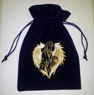 Archangel Raphael Tarot/Crystal/Rune Bag Velvet, blessed with Angelic Reiki