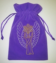 Archangel Metatron Tarot/Crystal  protection  Bag Velvet