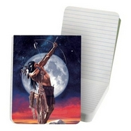 (Native American indian) Hunter Sunset Moon Sky Tree Free Eco Journal pocket pad