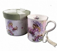 Angel with Butterflies Porcelain Mug