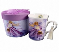 Angel of  Light & Protection Porcelain Mug in a Quality Angelic Giftbox
