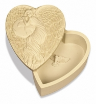 Earth Angel Wishing Box - heart-shaped