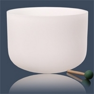 Crystal Singing Bowl F#-tone Heart 4th Chakra - 3 sizes to choose from