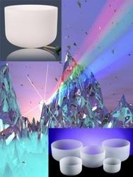 Crystal singing bowls Chakra SET 1, 7 bowls. set no 2
