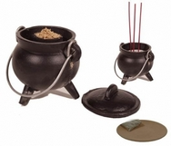 Cauldron cast iron - medium incense resin burner
