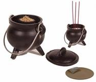 Cauldron cast iron - medium incense resin burner