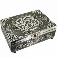 Stunning silver Pentagram Tarot Box