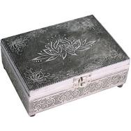 Stunning silver lotus flower  Tarot Box
