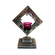 Moorish Single Large Square Candle Holder