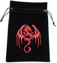 Red Dragon Tarot Bag Embroidered Velvet