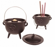 Pentagram Cast Iron Cauldron