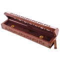 Sheesham Wood Incense Burner Box  geometric fretwork
