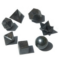 Black Agate  Geometric Seven Piece Crystal Set
