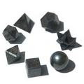 Black Agate  Geometric Seven Piece Crystal Set