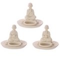 White Monk Round Incense Burner