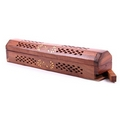 Sheesham Wood Incense Burner Box - Flower Inlay