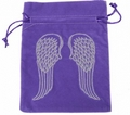 Tarot bag ' ANGEL WINGS' - velvet - with luxury embroidery