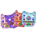 Ethnic Multi Wool Bags - Hippy Flower Design