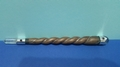 Twisted Spiral Wood Wand with Powerful Quartz Crystal Ball & Crystal Point