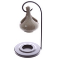 Hanging Teardrop Ceramic Oil Burner with Metal Stand