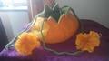 Autumn Pumpkin Vessel    (Craft Wet Wool Felted)