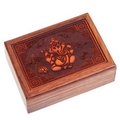 Indian Elephant God Ganesh  Engraved Box