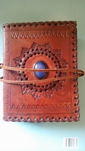 Third Eye Book Of Shadows Leather Journal with crystal inlay