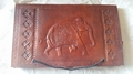 Indian Elephant  Book Of Shadows Leather Journal