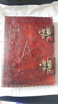 Embossed Pentagram  Book Of Shadows Leather Journal