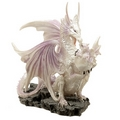 Ice Dragon  Mother Fantasy Winter Warrior Dragon Figurine