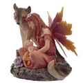 Mother of Autumn Spirit of the Forest Fairy & Wolf Figurine
