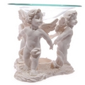 White Cherubs Holding Hands Oil Burner