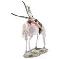 Decorative Green Woodland Fairy Resting on Unicorn