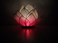 Lotus Flower  Pink Heart Chakra Tealight Candle Holder