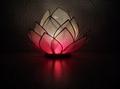 Lotus Flower  Pink Heart Chakra Tealight Candle Holder