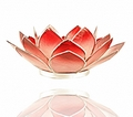 Lotus Flower  Pink/Red Heart/base Chakra Tealight Candle Holder