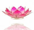 Lotus Flower Shaded Pink Heart Chakra Tealight Candle Holder