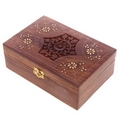 Sheesham Wood Aromatherapy Essential Oil Box  (Holds 24 Bottles)