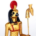 Decorative Gold Standing Horus Egyptian Figurine