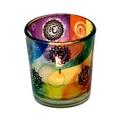 Colourful  Chakra's candle tea light holder