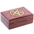 Decorative Sheesham Wood Pentagram Trinket Box