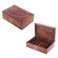 Sheesham Wood Aromatherapy Essential Oil Box  (Holds 12 or 24 Bottles)