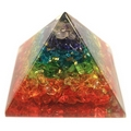 Large Orgonite Pyramid Generator  with Chakra Gemchips