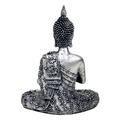 Silver Thai Sitting Buddha  Candleholder Figurine